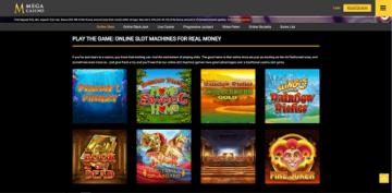 Mega Casino Game Selections