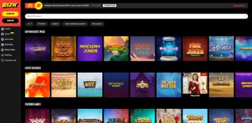 Rizk Casino Game Selection