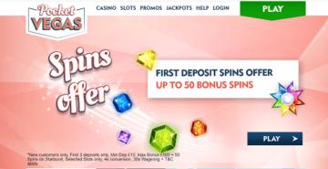Pocket Vegas Casino Homepage