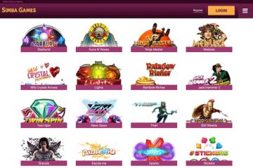 Simba Games Game Selection