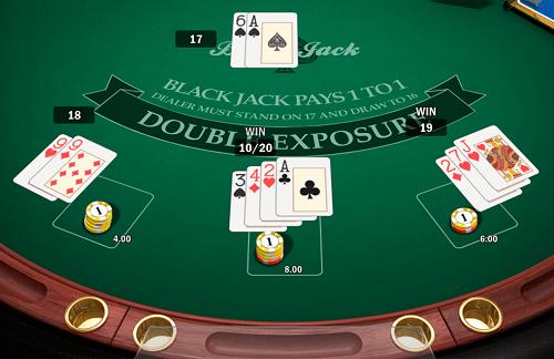 Blackjack Double Exposure Online